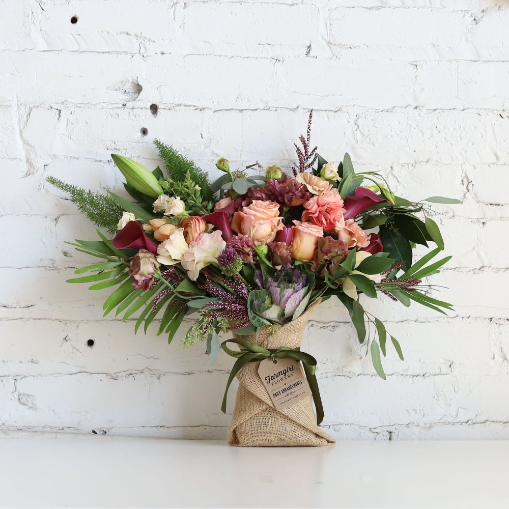 2c47fc327 The Just Right Burlap Wrapped Bouquet